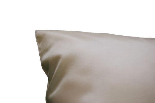 タイシルク クッションカバー  フラワー デザイン パールホワイト 【Flower Design , Pearl White】 45×45cm 対応の商品画像07