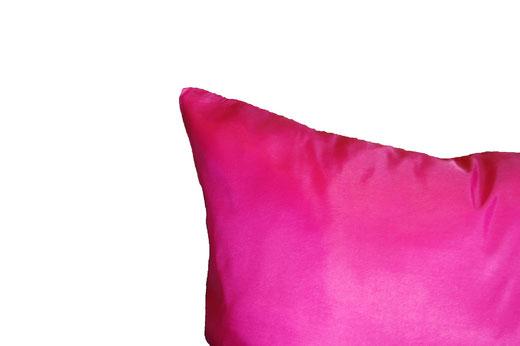 タイシルク クッションカバー  リーフ デザイン ピンク 【Leaf Design , Pink】 45×45cm 対応の商品写真06