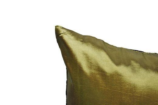 タイシルク クッションカバー  インフィニティ デザイン グリーン 【Infinity Design , Green】 の商品画像04