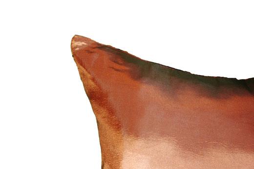 タイシルク クッションカバー  リングデザイン ブロンズ 【Ring Design , Bronze】 45×45cm 対応の商品写真15
