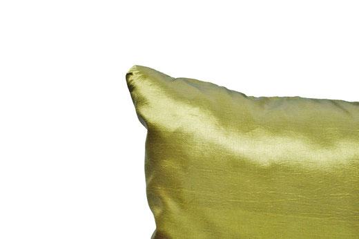 タイシルク クッションカバー  ロータス デザイン グリーン 【Lotus Design , Green】 45×45cm 対応 05