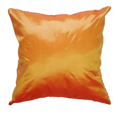 タイシルク クッションカバー  インフィニティ デザイン オレンジ 【Infinity Design , Orange】 の商品画像03