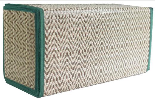 タイシルク ティッシュボックスケース エメラルドグリーンの商品画像03