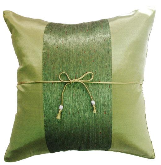 タイランド クッションカバー チェンマイ デザイン グリーン 【Chiang Mai Design , Green】 40×40cm の商品画像01