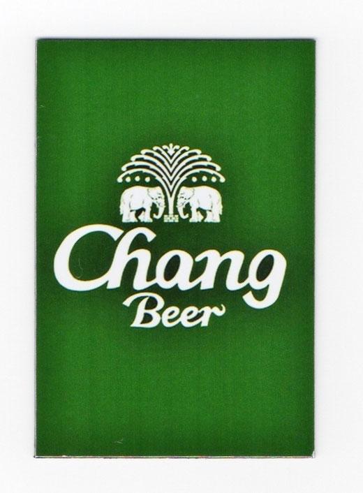 チャーン ビール マグネット type B (グリーン×縦タイプ) 1枚 【タイ雑貨 Thailand Beer Chang Magnet】の商品画像01