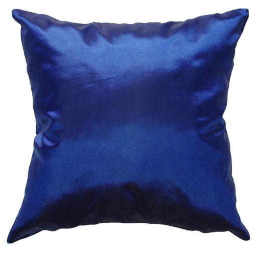 タイシルク クッションカバー  シンプル デザイン ブルー 【Simple Design , Blue】 の商品画像01