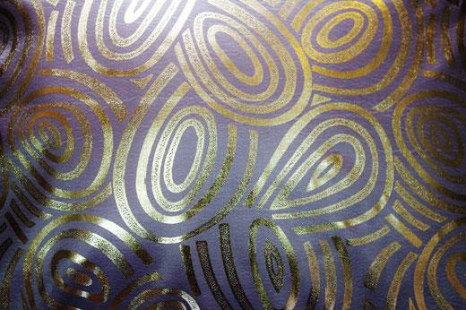 タイシルク クッションカバー  ゴールドリング デザイン シルバー 【Gold Ring Design , Silver】 45×45cm 対応の商品写真02