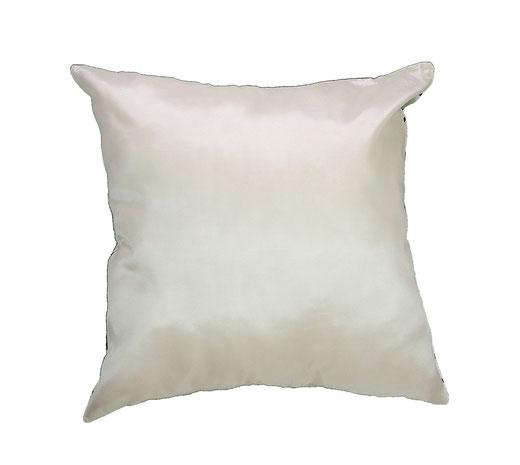 タイシルク クッションカバー  インフィニティ デザイン ホワイト 【Infinity Design , White】 の商品画像03