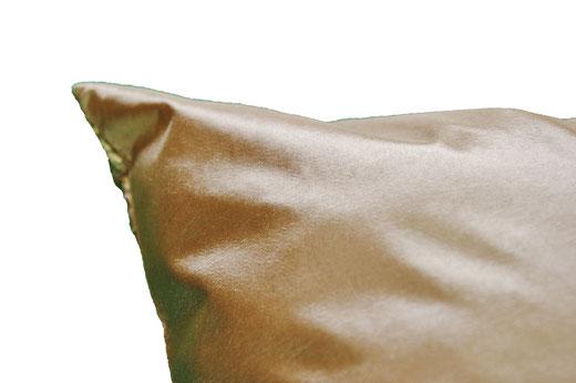 タイシルク クッションカバー  ゴールドリング デザイン ゴールド 【Gold Ring Design , Gold】 45×45cm 対応の商品写真07