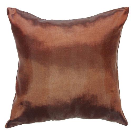 タイシルク クッションカバー  シンプル デザイン ブラウン 【Simple Design , Brown】 の商品画像01