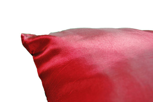 タイシルク クッションカバー  スクリュー デザイン ワインレッド 【Screw Design , Wine Red】 45×45cm 対応の商品画像07