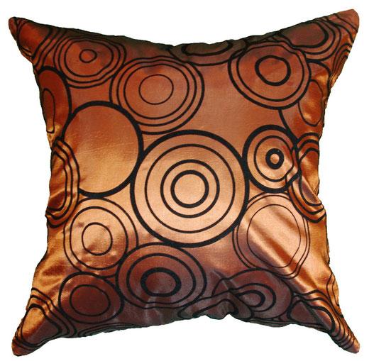 タイシルク クッションカバー  リングデザイン ブロンズ 【Ring Design , Bronze】 45×45cm 対応の商品写真11