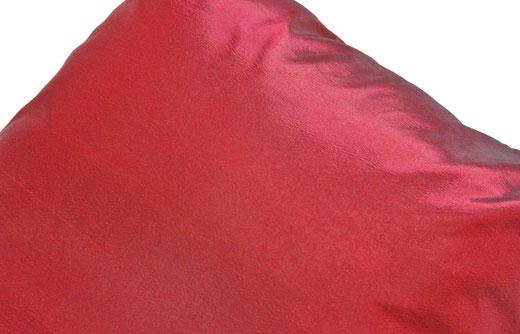 タイシルク クッションカバー  リングデザイン ワインレッド 【Ring Design , Wine Red】 45×45cm 対応の商品写真04