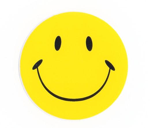 スマイリー スマイル にこちゃん ニコニコ 笑顔 ステッカー シール デカール イエロー ノーマル 01 [にこちゃんグッズ 雑貨]