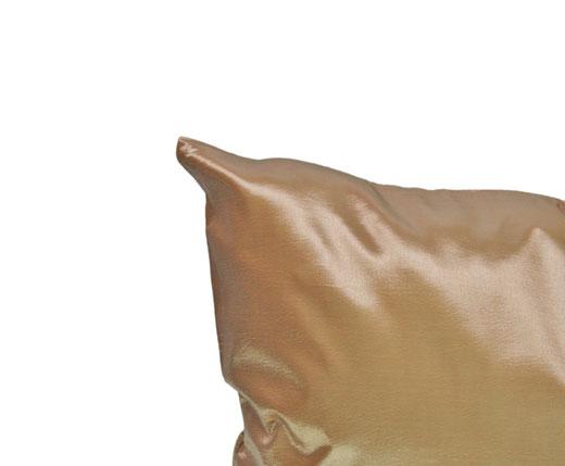 タイシルク クッションカバー  シンプル デザイン シャンパン ゴールド 【Simple Design , Champagne Gold】 の商品画像02