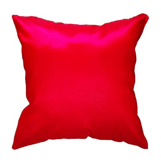 タイシルク クッションカバー  ゴールドリング デザイン レッド 【Gold Ring Design , Red】 45×45cm 対応の商品画像05