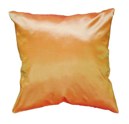 タイシルク クッションカバー  ゴールドリング デザイン オレンジ 【Gold Ring Design , Orange】 45×45cm 対応の商品画像05