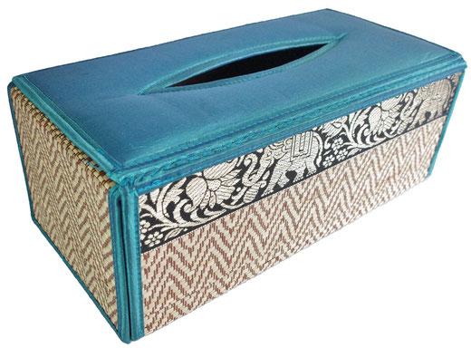 タイシルク ティッシュボックスケース ブルーの商品画像01