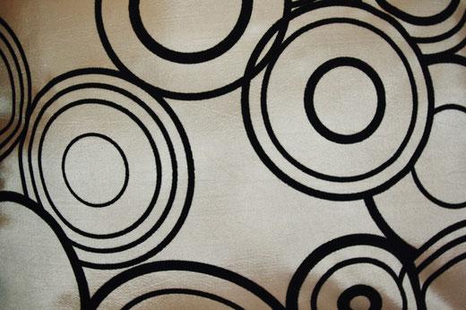 タイシルク クッションカバー  リングデザイン シャンパンゴールド 【Ring Design , Champagne Gold】 45×45cm 対応の商品写真11