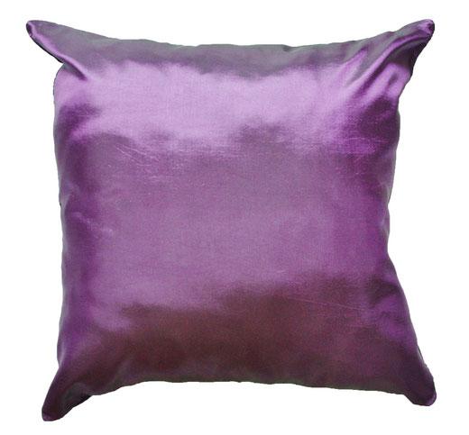 タイシルク クッションカバー  ロータス デザイン パープル 【Lotus Design , Purple】 45×45cm 対応 04