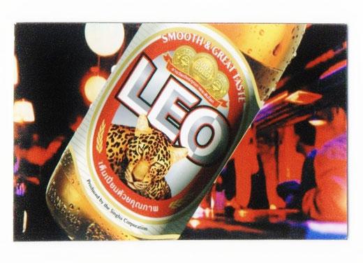 レオ ビール マグネット type A(横タイプ) 1枚 【タイ雑貨 Thailand LEO Beer Magnet】の商品画像01