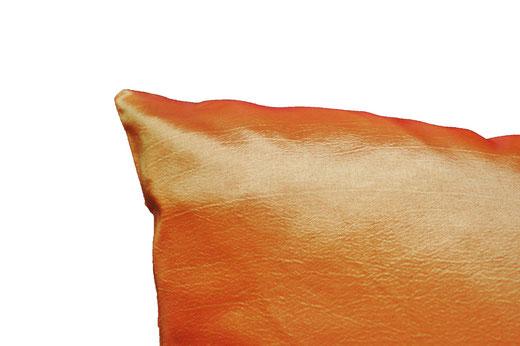 タイシルク クッションカバー  チェッカーデザイン オレンジ 【Checker Design , Orange】 45×45cm 対応の商品写真06