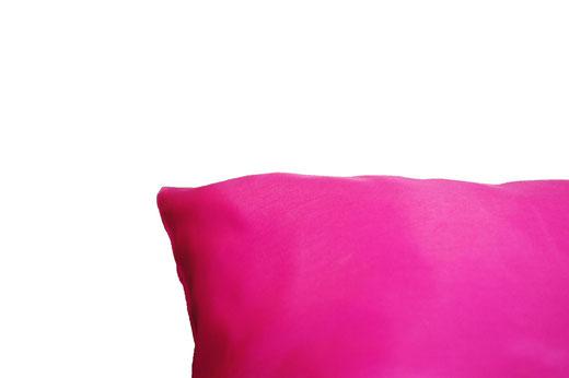 タイシルク クッションカバー  リーフ デザイン ピンク 【Leaf Design , Pink】 45×45cm 対応の商品写真07