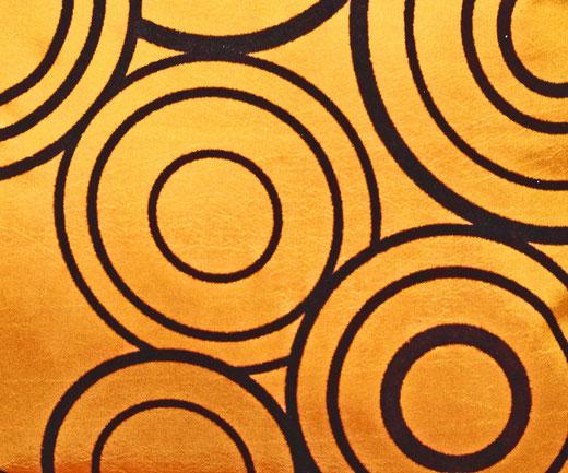 タイシルク クッションカバー  リングデザイン オレンジ 【Ring Design , Orange】 45×45cm 対応の商品写真02