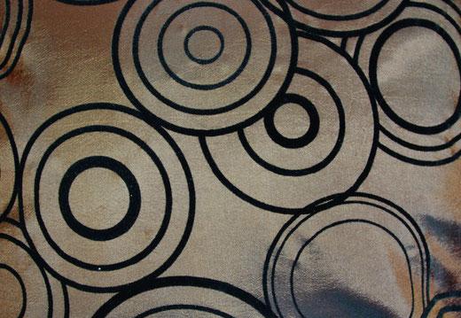 タイシルク クッションカバー  リングデザイン ブラウン 【Ring Design , Brown】 45×45cm 対応の商品写真02