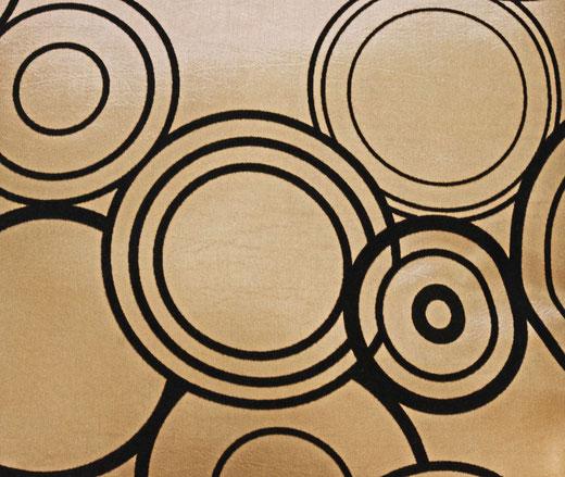 タイシルク クッションカバー  リングデザイン ゴールド 【Ring Design , Gold】 45×45cm 対応の商品写真02