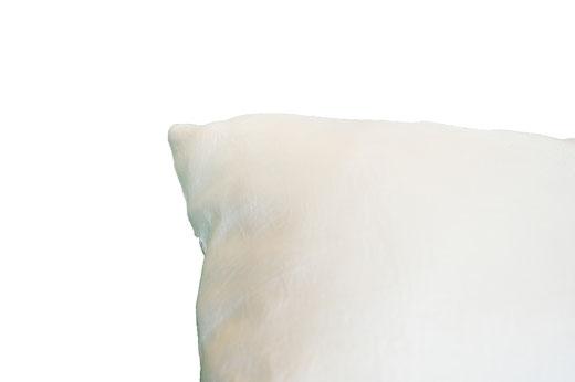 タイシルク クッションカバー  リングデザイン パールホワイト 【Ring Design , Pearl White】 45×45cm 対応の商品写真10