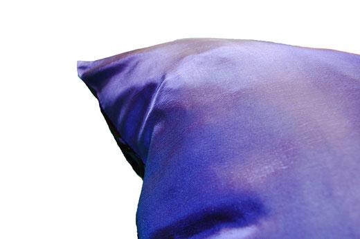 タイシルク クッションカバー  スクリューデザイン ブルー 【Screw Design , Blue】 45×45cm 対応の商品画像07