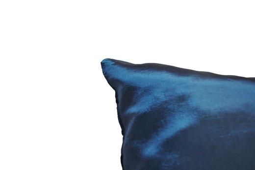 タイシルク クッションカバー  インフィニティ デザイン ターコイズ ブルー 【Infinity Design , Turquoise Blue】 の商品画像05