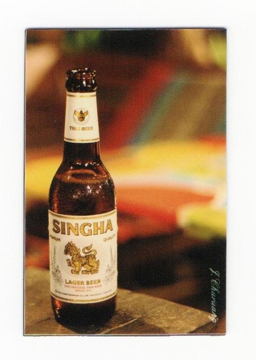 シンハー ビール マグネット type B1 (瓶ビール×縦タイプ) 1枚 【タイ雑貨 Thailand SHINGHA Beer Magnet】の商品画像01