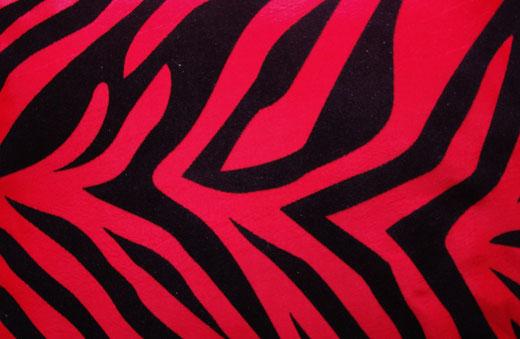 タイシルク クッションカバー  ゼブラ デザイン レッド 【Zebra Design , Red】 45×45cm 対応の商品画像02