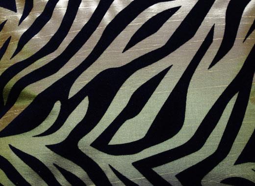 タイシルク クッションカバー  ゼブラ デザイン グリーン 【Zebra Design , Green】 45×45cm 対応の商品画像02