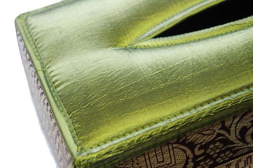 タイシルク ティッシュボックスケース ライトグリーンの商品画像02