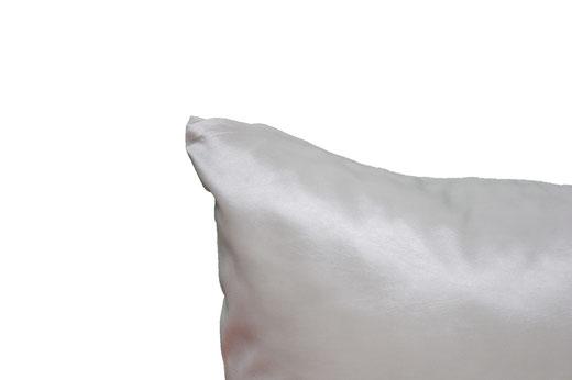 タイシルク クッションカバー  バンコク リーフ デザイン  ホワイト   【Bangkok Leaf Design , White】 45×45cm 対応 05