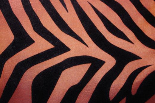 タイシルク クッションカバー  ゼブラ デザイン ブラウン 【Zebra Design , Brown】 45×45cm 対応の商品画像02