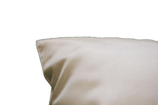 タイシルク クッションカバー  フラワー デザイン パールホワイト 【Flower Design , Pearl White】 45×45cm 対応の商品画像08
