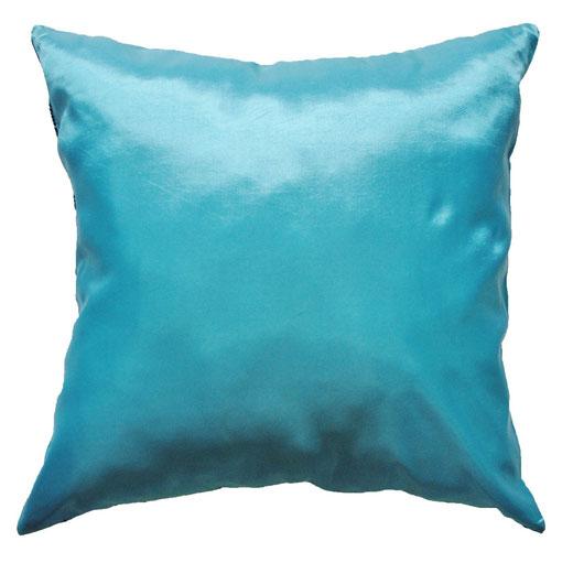 タイシルク クッションカバー  ロータス デザイン ライト ブルー 【Lotus Design , Light Blue】 45×45cm 対応 04