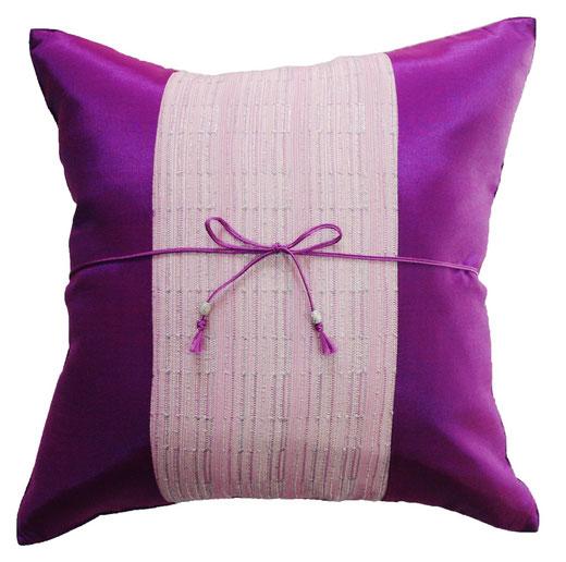 タイランド クッションカバー チェンマイ デザイン パープル 【Chiang Mai Design , Purple】 40×40cm の商品画像01