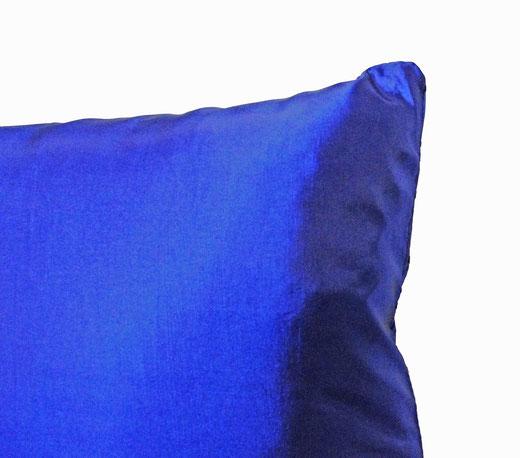 タイシルク クッションカバー  リングデザイン ブルー 【Ring Design , Blue】 45×45cm 対応の商品写真04