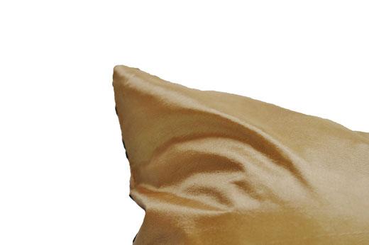 タイシルク クッションカバー  インフィニティ デザイン ゴールド 【Infinity Design , Gold】 の商品画像04
