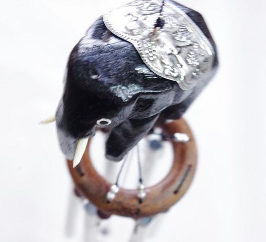 ハンドメイド 風鈴 ゾウさんエレファント ウインドチャイムの商品写真03  [タイ雑貨 アジアン雑貨 タイ旅行おみやげ]