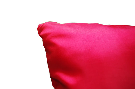 タイシルク クッションカバー  フラワー デザイン レッド 【Flower Design , Red】 45×45cm 対応の商品画像07
