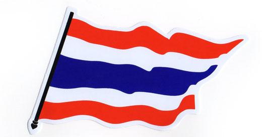 タイ王国 国旗 ステッカー(THAILAND National Flag Sticker ) M サイズ type B 1枚 【Thailand Sticker】の商品画像01