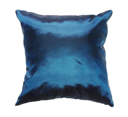 タイシルク クッションカバー  インフィニティ デザイン ターコイズ ブルー 【Infinity Design , Turquoise Blue】 の商品画像03