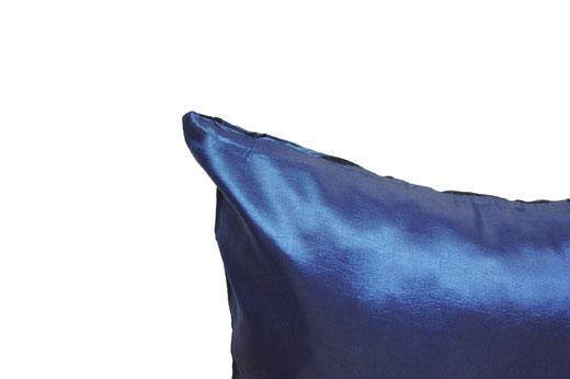 タイシルク クッションカバー  バンコク リーフ デザイン  ブルー   【Bangkok Leaf Design , Blue】 45×45cm 対応 05