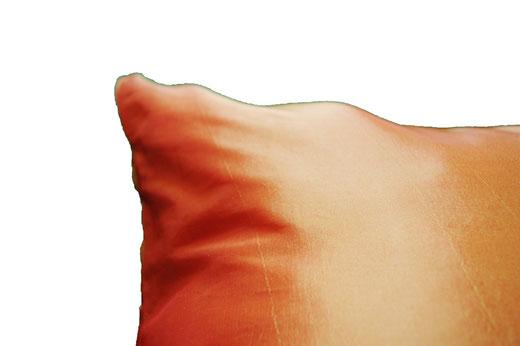 タイシルク クッションカバー  フラワー デザイン オレンジ 【Flower Design , Orange】 45×45cm 対応の商品画像05